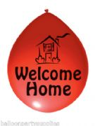 "10 x 11"" Balloons ""Welcome Home"" Asst Colours"